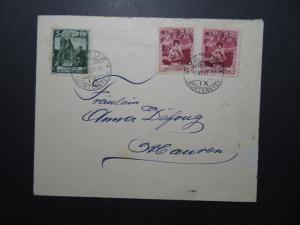 Liechtenstein 1931 Cover w/ 3 & 5Rp Issues - Z11834