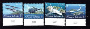Pitcairn Is 692-95 MNH 2009 Airplanes