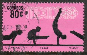 MEXICO 993, 80c Gymnastics 4th Pre-Olympic Set Used. F-VF. (752)