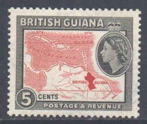 British Guiana Scott 257 - SG335, 1954 Elizabeth II 5c MH*