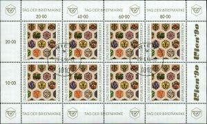 Austria Scott #B356 Complete Sheet of 8 Used