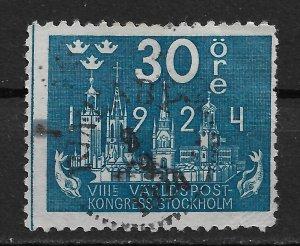 1924 Sweden 202 UPU Congress 30ore used.
