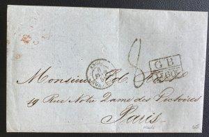 1858 Haiti Letter Sheet cover To Paris France