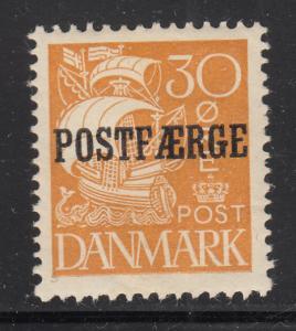 Denmark 1927 MH Sc #Q13 POSTFAERGE on 30o Caravel
