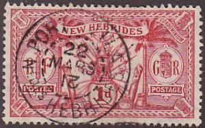 New Hebrides Br 18 Hinged Used 1911 Native Idols CDS
