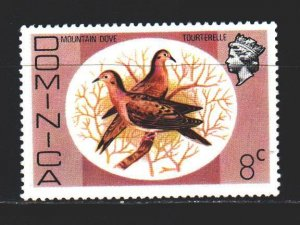 Dominica. 1975. 464 from the series. Blue Bird, fauna. MNH.
