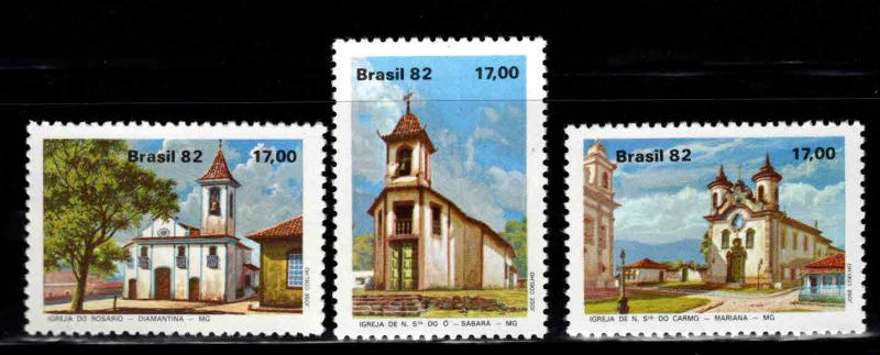 Brazil Scott  1806-1808 MNH** Church stamp set