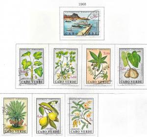 Cape Verde #345-352 Plants  (U) CV$2.05