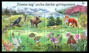 Uzbekistan Usbekistan 2018 birds moth fox forest animals klb MNH