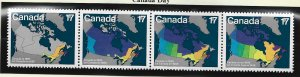 Canada Stamp Scott #893a, Mint Never Hinged