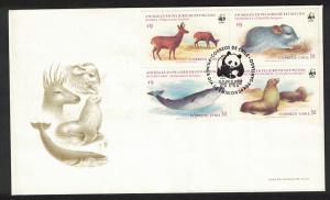 Chile WWF Conservation in Chile FDC SG#993-996 MI#1066-1069 SC#679-682