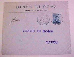 LIBYA  BENGASI 1915 BACKSTAMP  ITALY