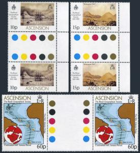 Ascension 266-268 gutter,MNH.Michel 268-270. Geographical Society,1980.Paintings