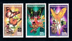 [92036] Madagascar 1988 Insects Butterflies Scouting From Set MNH
