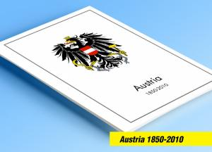 COLOR PRINTED AUSTRIA 1850-2010 STAMP ALBUM PAGES (317 illustrated pages)