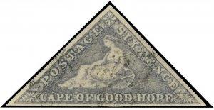 Cape of Good Hope Scott 5b Gibbons 7c Used Stamp