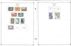 Malaya & States 1901-1962 MNH, LH & U hinged & in Mounts on Scott Int.Pages