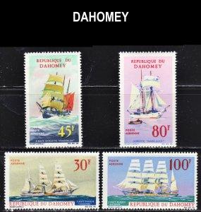 Dahomey Scott C51-54 complete set F to VF mint OG NH.