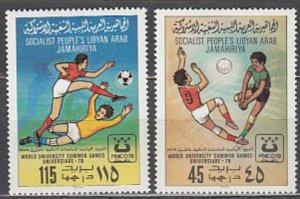Libya 1979 Scott 827-828 World University Games MNH