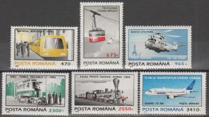 Romania #4001-6 MNH F-VF CV $13.50 (SU849)