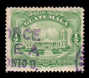 GUATEMALA STAMP 1929 SCOTT # 233. USED. # 5
