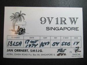 10224 Amateur Radio QSL Card SINGAPORE