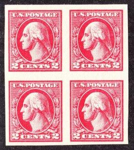 US 534 2c Washington Mint Block of 4 XF OG NH SCV $125 (002)