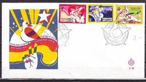 Neth. Antilles, Scott cat. B128-B130. Youth & Rock Music issue. ^