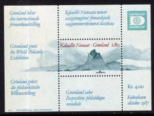 Greenland 199 Souvenir Sheet MNH VF