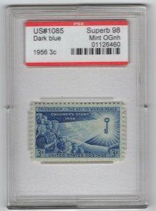 #1085 3c, PSE Superb 98 Mint OG NH - in Case as Shown (GP2 10/23/19)