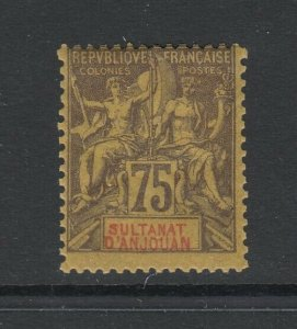 Anjouan, Scott 18 (Yvert 12), MHR