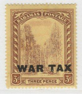 British Colony Bahamas War Tax 1918 Wmk Mult Crown CA 3d MH* Stamp A22P15F8694