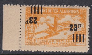 FRENCH ALGERIA ^^^^RARER   MNH RAILWAY with Double O/P ( one inverted)$ 63@sc32a