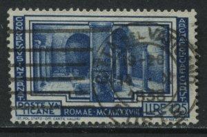 Vatican 1938 1.25 lire used