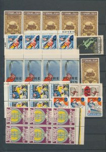 French Chalon Paris Commerce Tours Poznan Poster Labels MNH x 60(W2506)