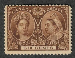 Canada Sc#55 M/NH/F, 6c Jubilee, Cv. $575