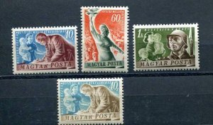 Hungary 1950 MI 1139-41 + Variety missed color or Proof or Assay? MH 10358