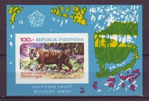 J25116 JLstamps 1977 indonesia s/s mnh #1016a wild animal tiger