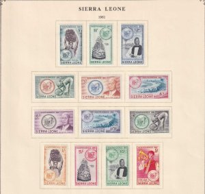SIERRA LEONE  INTERESTING COLLECTION REMOVED FROM ALBUM PAGES - Y789
