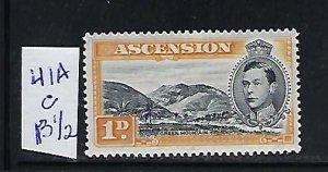 ASCENSION IS. SCOTT #41AC 1938-53 GEORGE VI 1P (ORANGE)-PERF 131/2 - MINT LH