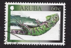 Aruba   #188  used  2000  reptiles  60c