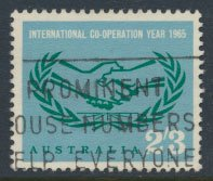 Australia  SC# 392 Cooperation Year 1965   SG 380  Used   as per scan