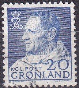 Greenland #53  F-VF Used CV $3.50  (K3023)