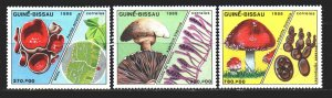 Guinea-Bissau. 1988. 989-94 from the series. Mushrooms. MNH.