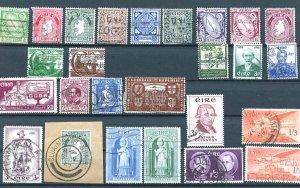 Ireland Group 26 stamps UF-VFLH including Scott 69, 70, 71, 72, 73 SCV $62.60