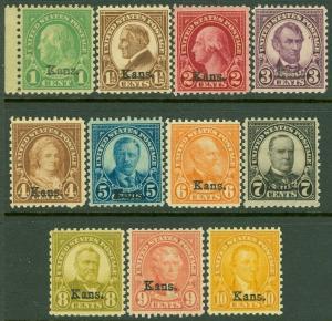 EDW1949SELL : USA 1929 Scott #658-68 Mint Never Hinged. Very Fresh set. Cat $431