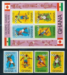 Ghana - Montreal Olympic Games MNH Ovpt Winners Set (1976)