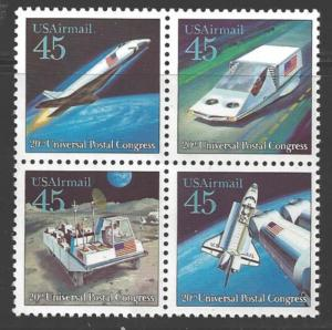 USA 1989 45 cents Future Mail Transportation, Block 4, Never Hinged Scott #C1...
