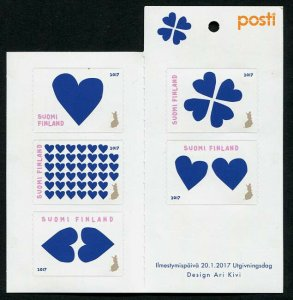 HERRICKSTAMP NEW ISSUES FINLAND Sc.# 1531 Blue Hearts Self-Adh. Booklet