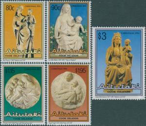 Aitutaki MNH 483-7 Christmas 1993